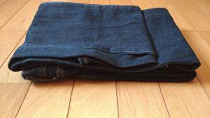 キレイに畳まれたジーンズ