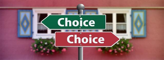 2つの選択肢