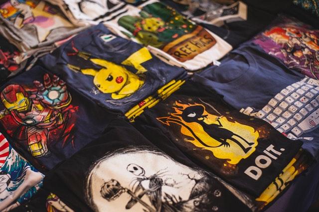 売られているTシャツ
