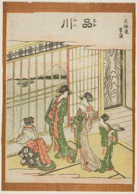 葛飾北斎「東海道五十三次 品川」c.1806 シカゴ美術館